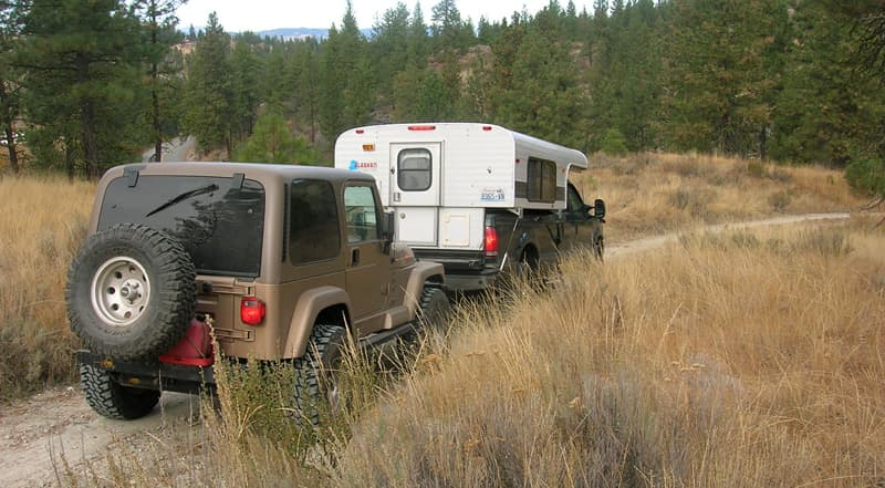Towing A Jeep into the Wilderness