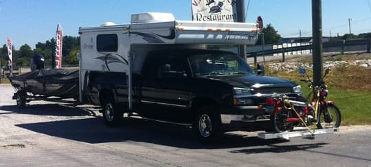 F350 Towing Capacity >> Mopeds, Scooters, and Motorcycles Go Truck Camping
