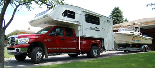 Truck Campers Tow Boats