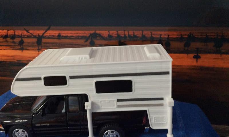 Toy Truck Camper, Platte River, Nebraska