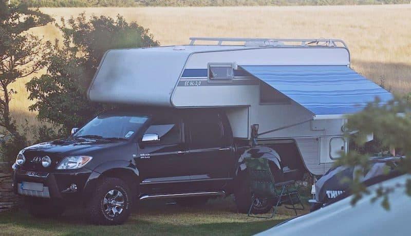 Toyota Hilux SKarosser camper from Sweden