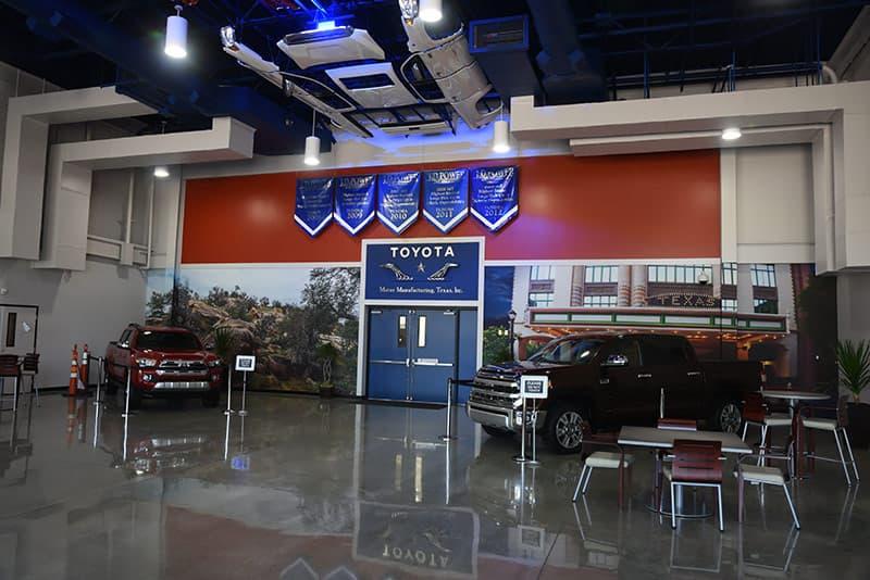 Toyota Entrance Blue Doors
