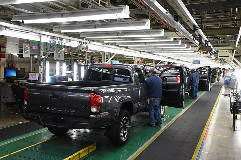 Tacoma truck final inspection