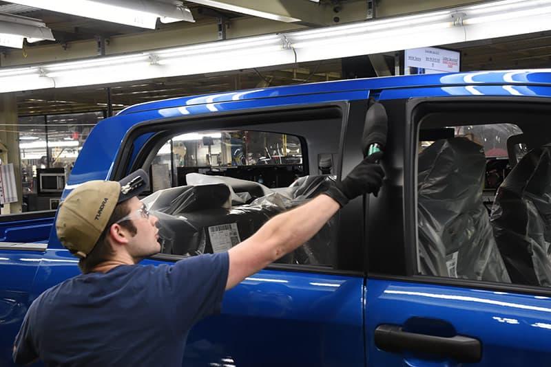 Toyota inspection foam wand