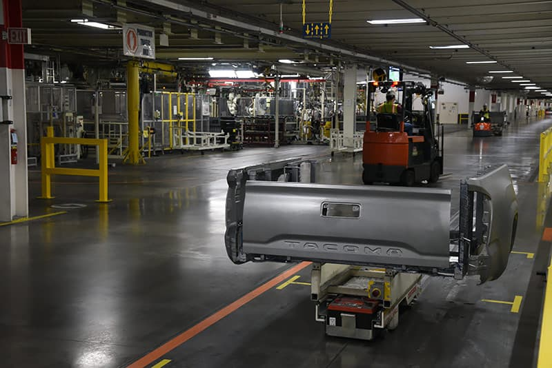Robots at Toyota Truck Factory