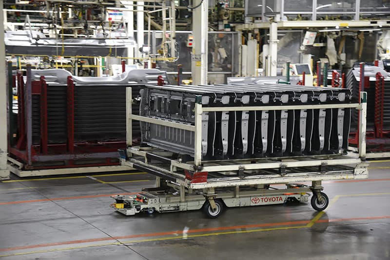 Robots moving at Toyota Truck Plant