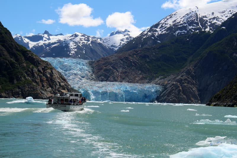 Tracy Arm Fjord glacier Alaska