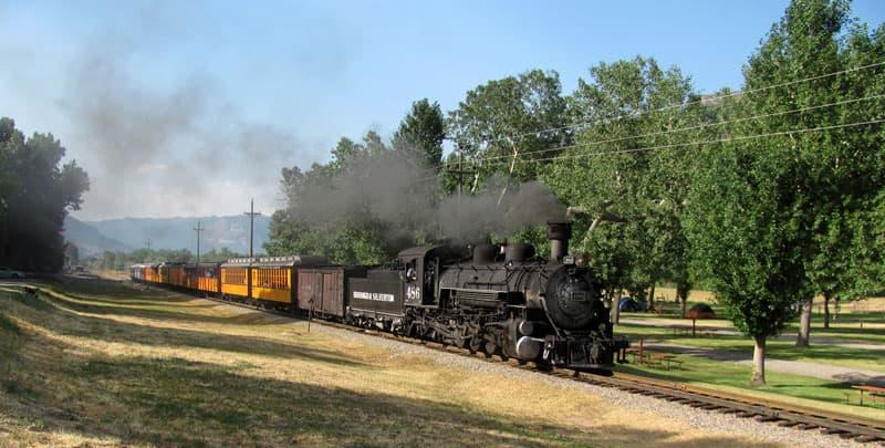 Train going through United campground