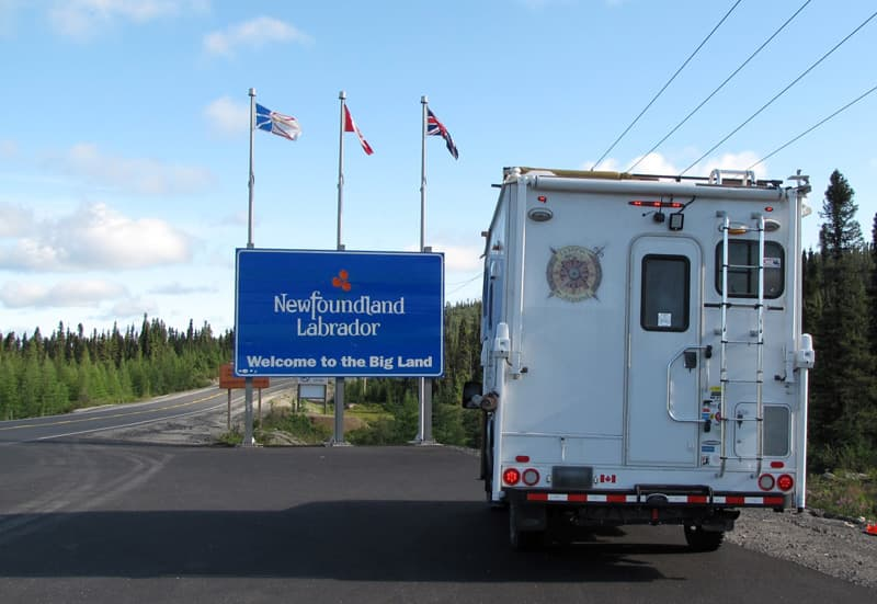 Trans-Labrador Highway entering Newfoundland