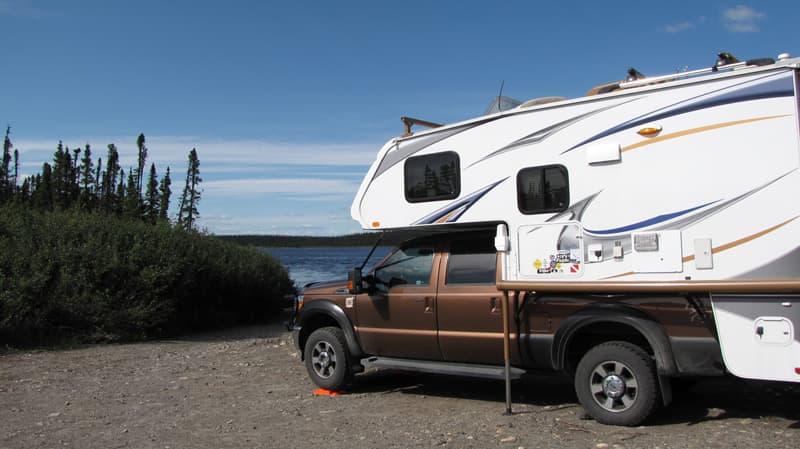 camping near Churchill Falls Newfoundland