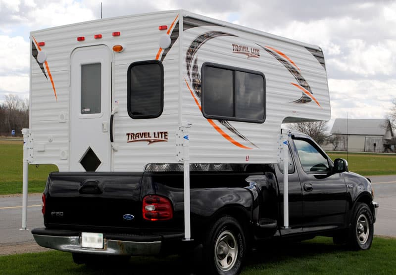 Travel Lite 625 short bed tailgate closed