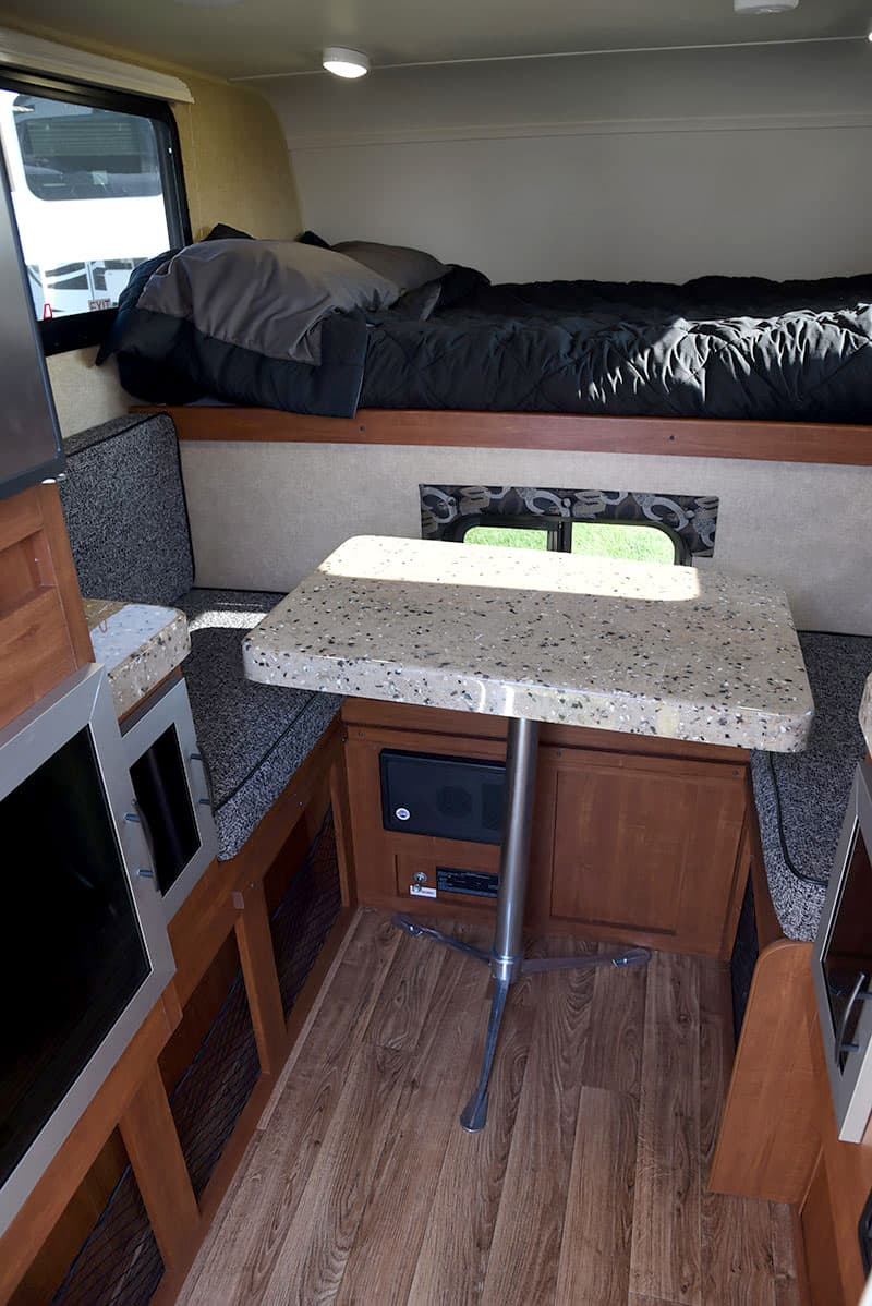 Travel Lite Air truck camper dinette with table