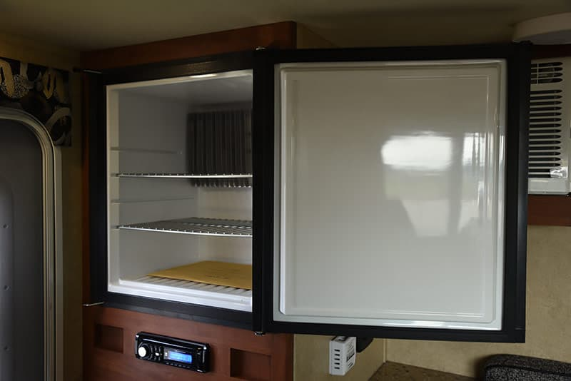 Travel Lite Air camper refrigerator open