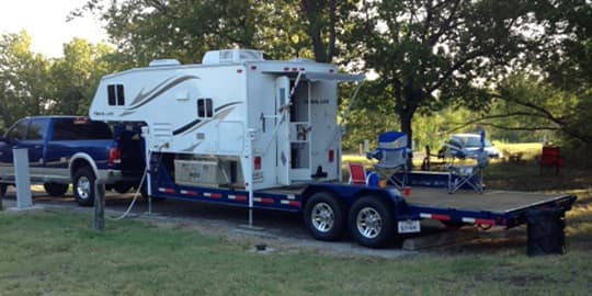 Truck Travel Trailer Combo Sale