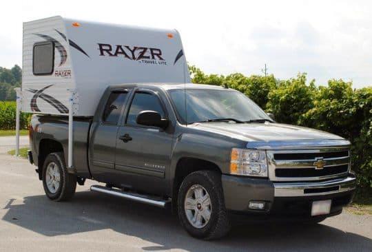 2016 travel lite rayzr half ton cabover less camper. Black Bedroom Furniture Sets. Home Design Ideas