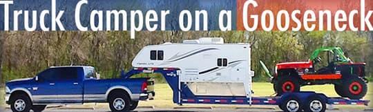 Haulers pour l'inspiration... Truck-camper-gooseneck-trailer