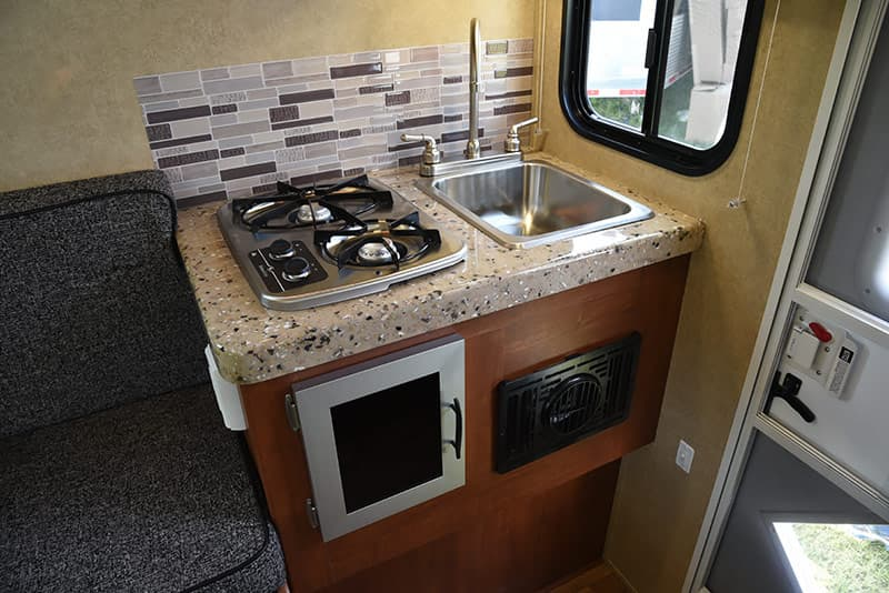Travel Lite Air sink and two-burner stove