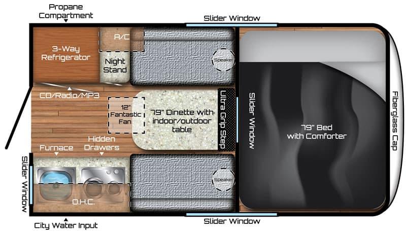 Travel Lite Air Small Camper Floor Plan