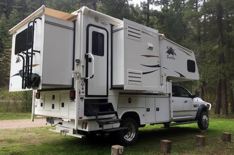 Triple Slide Truck Camper on Ram 5500