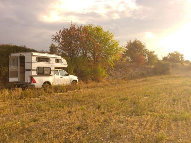 #293 - Matthias HaenischLastours, France2017 Toyota Hilux2011 Four Wheel Camper WildcatCamera Used - Sony A7RMorning sun after a very peaceful night near the vineyards of southern France.