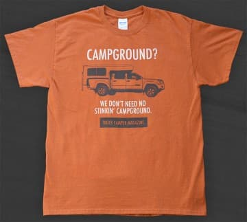 Truck Camper T-Shirts Campground
