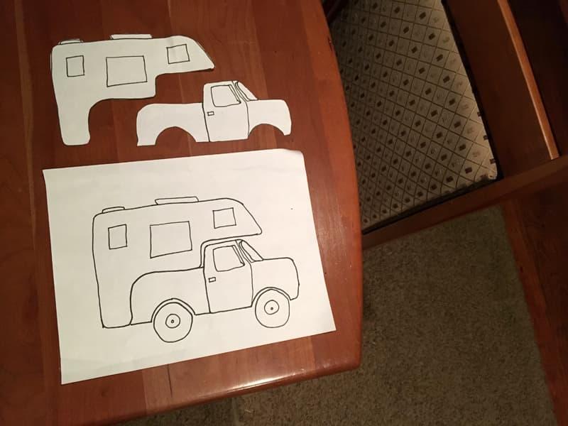 Truck camper design pattern