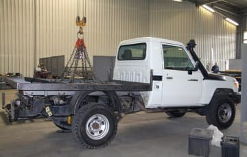 Truck-Camper-flatbed-in-production