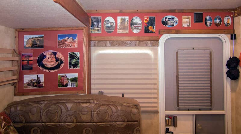 Putting photos on camper walls