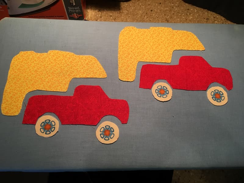 Fabric cut out for truck camper placemats