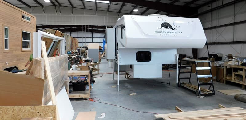 Truck Camper Production line at Rugged Mountain RV