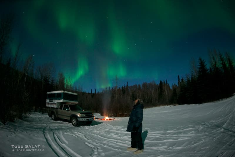 Aurora Hunter is truck camping