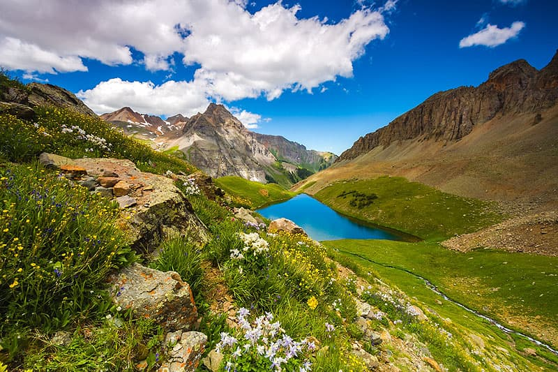 Colorado, Upper Blue Lake near Mount Sneffels