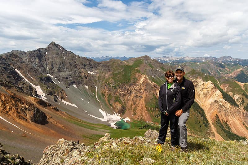 Scott and Lora in Velocity Basin, Colorado
