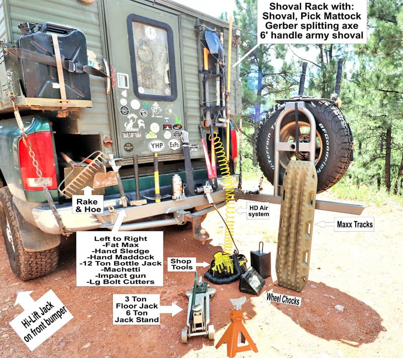 Truck Tools for overlanding