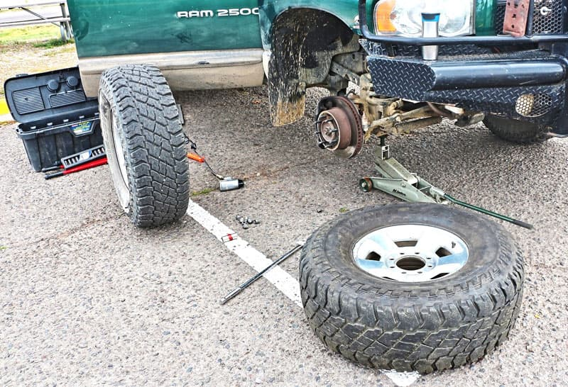 Truck tires and recovery tools