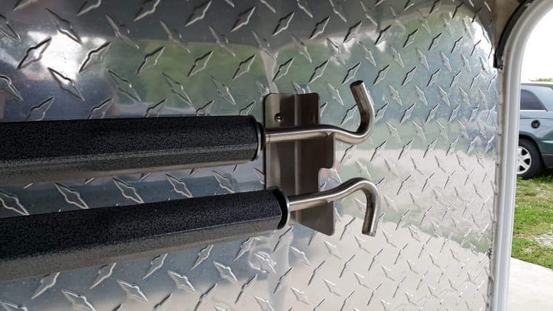 Turnbuckle storage attachment