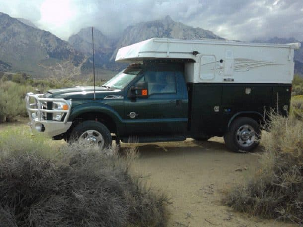 #229 - Forrest AtkinsTurtle Creek Campground Eastern Sierra, California2011 Ford F-2502014 Phoenix Custom CamperCamera Used - SurfacebookStorm clouds over Alabama Hills today should make for great sunrise shot tomorrow.  I was up before dawn, over to pre-scouted position, setup up camera, and waited and waited!