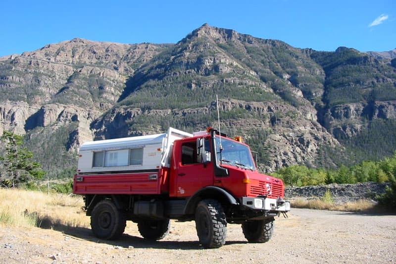 Unimog Camper Ishoowa Canyon Wyoming