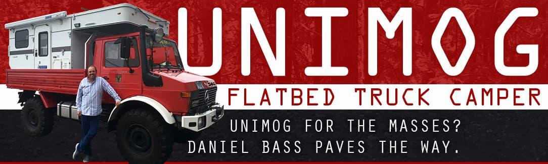 Unimog Four Wheel Camper flatbed