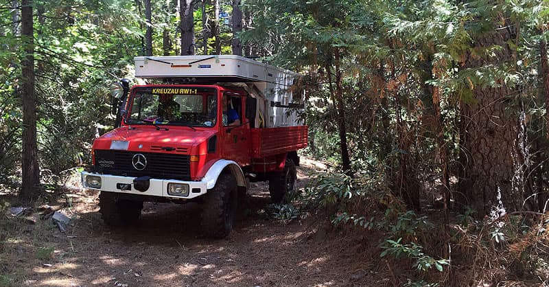 Unimog camper removal of clearance lights and siren