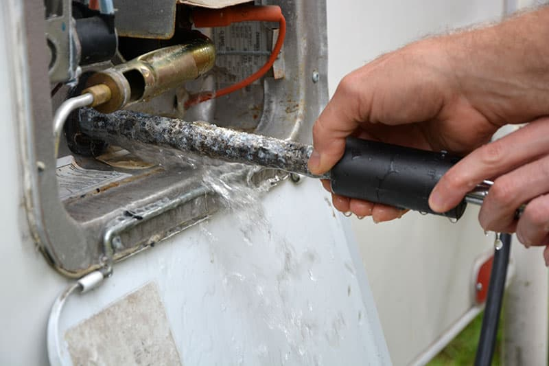 Used Camper More To Inspect Water Heater Rod