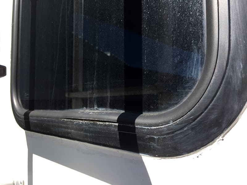 Used Camper Split Window Seal