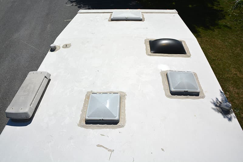 Used Camper Wide Shot Roof Pre Maintenance