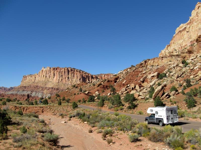 Utah camping beautiful red rock