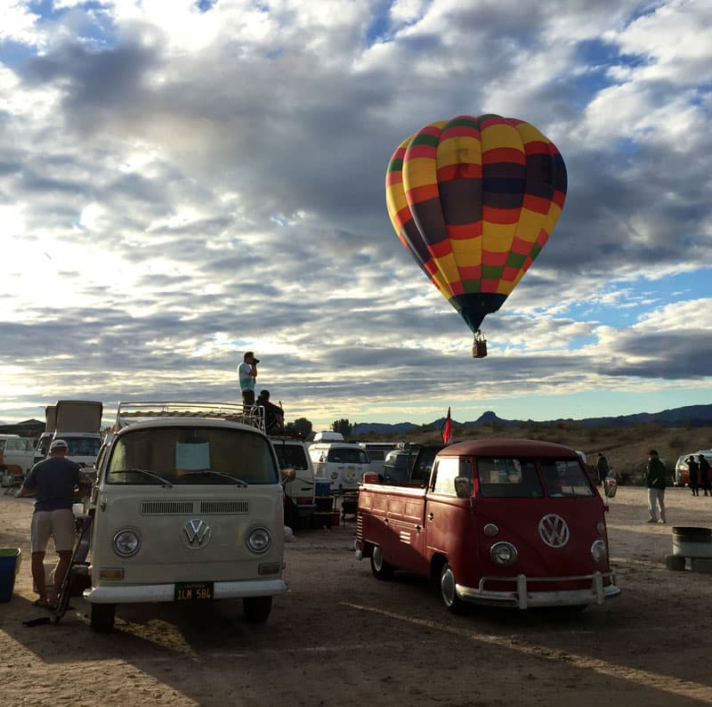 Buses by the Bridge VW balloons