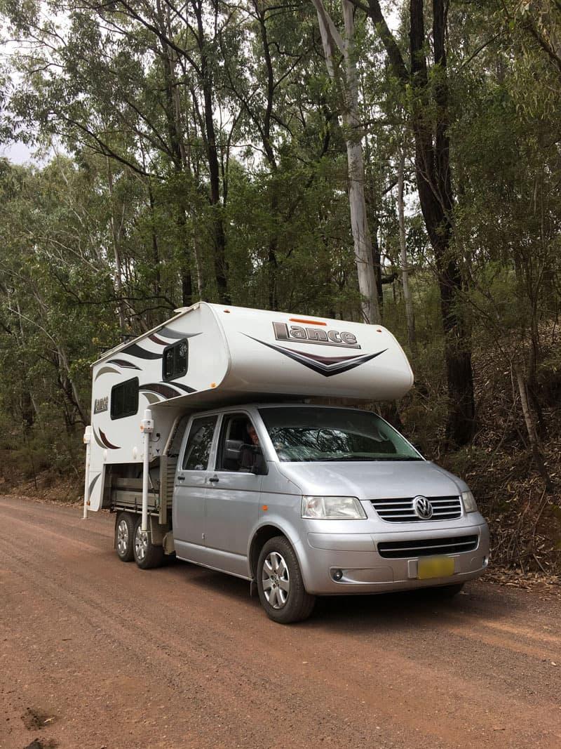 VW Transporter Slide On Camper