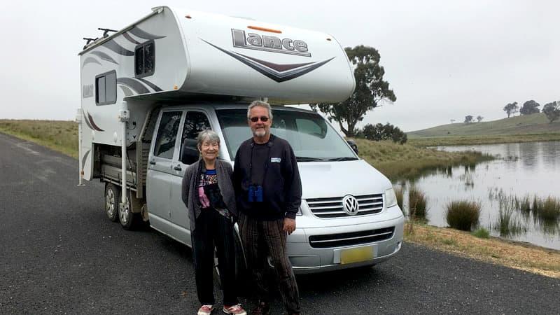 VW Transporter Truck Camper, Rosemary and Irwyn in Australia