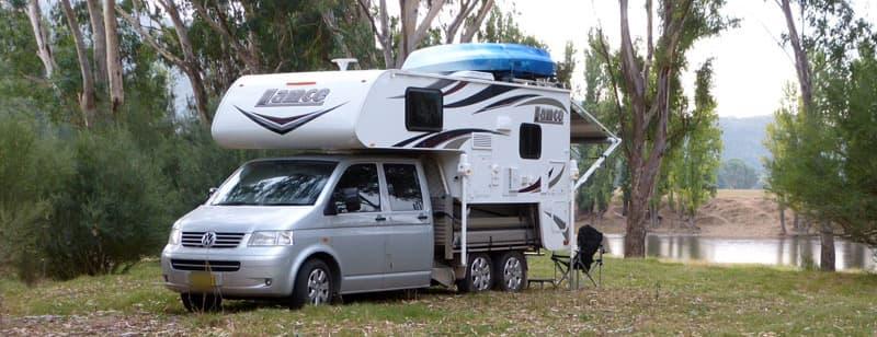 VW Transporter truck camper boondocking