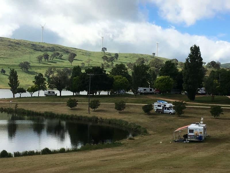 Campground in Australia