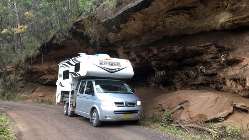Volkswagen Truck Camper dirt road Australia